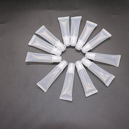 12 pcs Clear 8ml Refill Empty Tubes Containers for DIY Lip G
