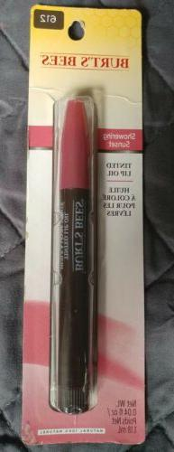 New BURT'S BEES Tinted Lip Oil Lipstick Misted Plum Full Sz