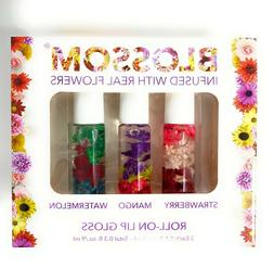 Blossom Roll On Lip Gloss Box Set Infused with Real Flowers